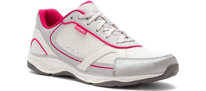 VIONIC with Orthaheel Technology For Womens.  Though this looks like any other ordinary shoe, it has been designed for use by those who suffer from symptoms associated with plantar fasciitis. It is a good looking shoe made from good quality leather and is imported. The sole is manmade and what is special is that it is very well designed to keep men on the move always.