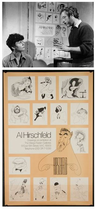 The MARGO FEIDEN GALLERIES LTD Celebrates the release of the film The Goodbye Girl, November 30, 1977. The film starred Marsha Mason and Richard Dreyfuss. The Hirschfeld Poster proudly announcing Al Hirschfeld at The Margo Feiden Galleries is featured prominently in Marsha Mason's apartment, the main set of this Neil Simon romantic comedy. alhirschfeld.com