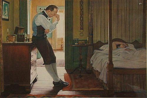 Doctor Benjamin Rush Attending to a Patient Benjamin Rush: (January 4, 1746 – April 19, 1813)