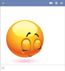 Blushing emoticon code