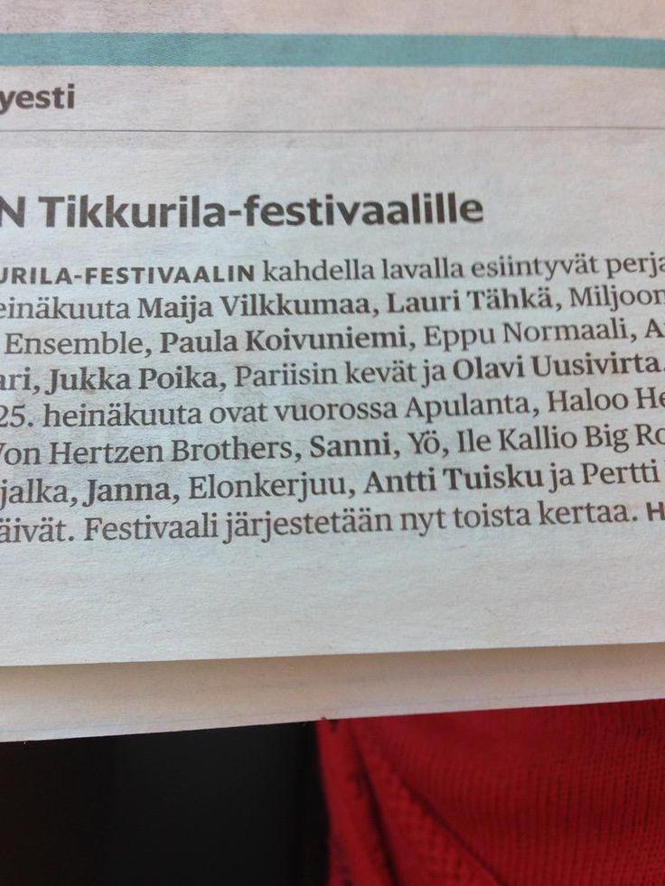 Melko uusi #festari tulokas #pkntikkurila, bit samat esiintyjät kiertävät Suomea #tapahtumat #tapahtumatohtori