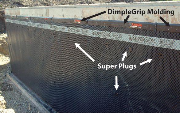 Dimplegrip Fastening System Waterproofing Basement Poured Concrete Deck Enclosures