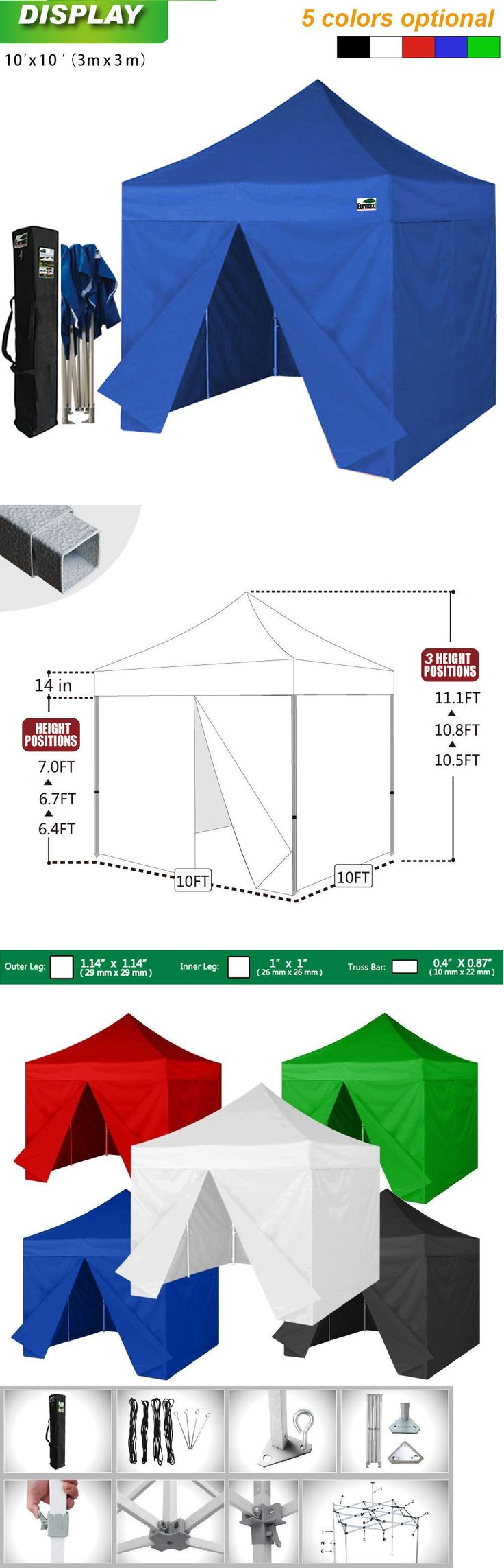 Other Camping Hiking Clothing 27362: Eurmax Display Canopy 10X10 Tent With 4 Enclosure Walls + Water Proof Carry Bag -> BUY IT NOW ONLY: $219.95 on eBay!