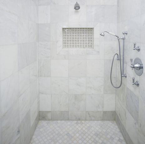 How about a marble shower surround manhattan marble from arizona tile is available in a