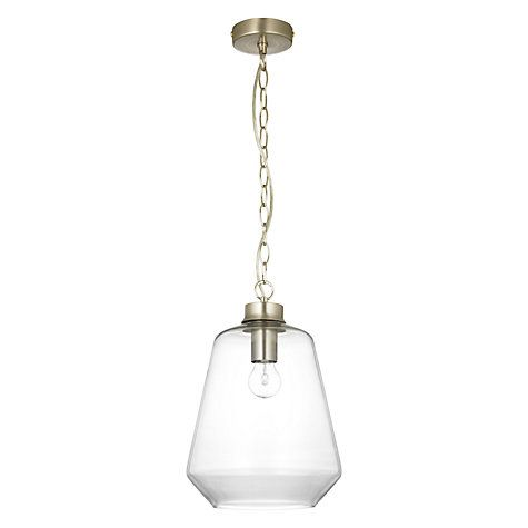 Buy John Lewis Colbert Glass Pendant Light, Satin nickel Online at johnlewis.com