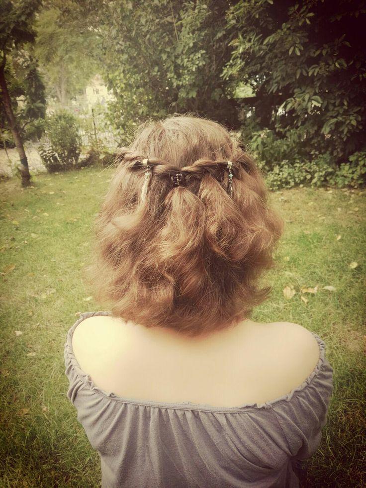 ❤Süße Sommerfrisur mit Haarschmuck❤  // short hair styles // summer // bob // hair accessoires