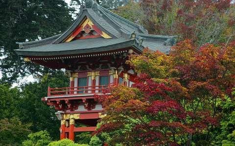 japán kertek és parkok templom ősz