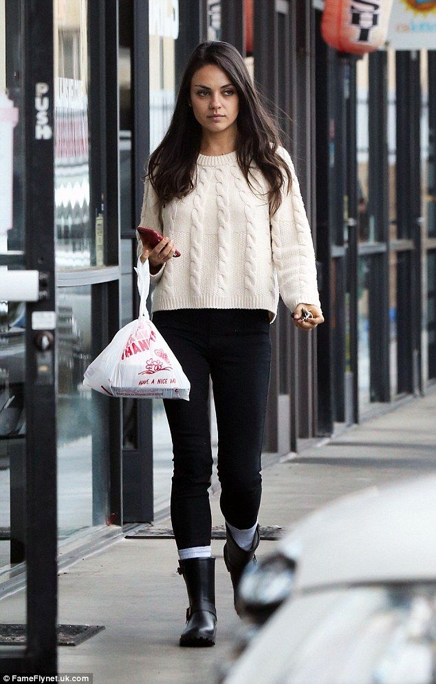 Eat your heart out, food fans! Mila Kunis kept it real when she stepped out in Toluca Lake, California, on Monday evening - where she indulged in some fast food
