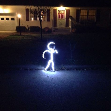 Picture of DIY LED Stick Figure Costume