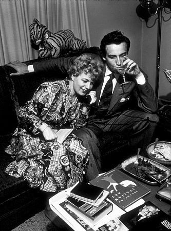 Shelley Winters and her husband, Vittorio Gassman, in Hollywood, CA, 1952.