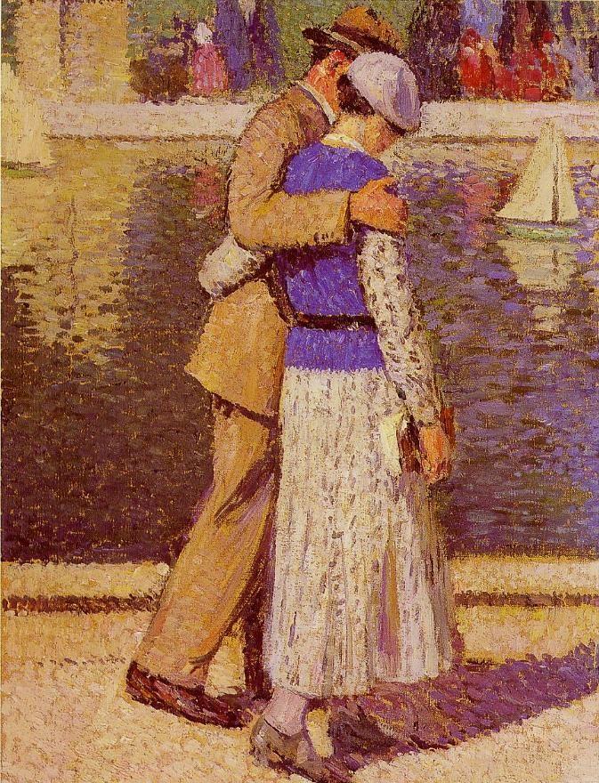 Henri Martin  Couple d'amoureux,1933  Oil on canvas,81 x 60cm,Musée du Petit Palais, Paris