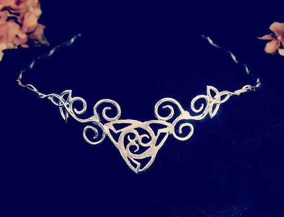 Tocado de novia celta Trinidad celta nudo anillo OOAK por Camias