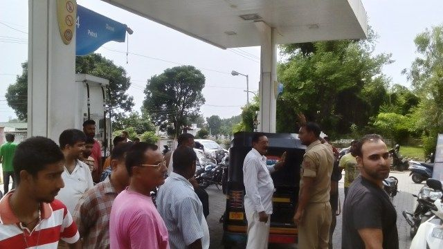 No petrol in Jammu Indefinite strike by petrol tanker drivers