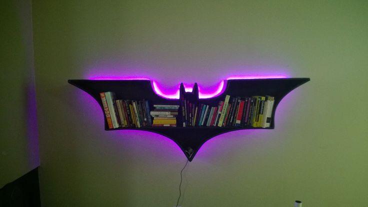 Batman Bookshelf DIY - Imgur