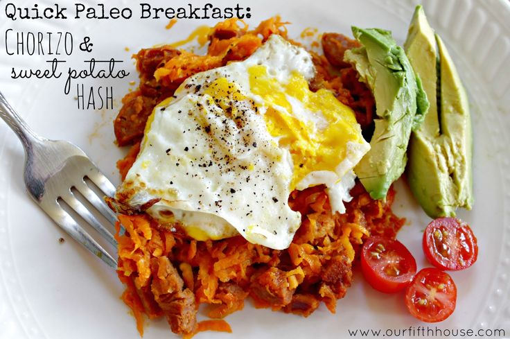 Quick Paleo Breakfast/Freezer meals. Our Fifth House - chorizo & sweet potato hash - freezer meals