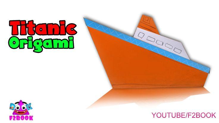 Paper Steam Boat || Origami for kids Craft Art || F2BOOK Video Tutorial 165
