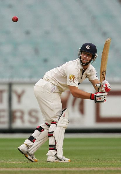 Matthew Wade of the Bushrangers plays a shot during day two of the Sheffield Shield match between the Victorian Bushrangers and the New South Wales Blues at the Melbourne Cricket Ground on February 13, 2010 in Melbourne, Australia.