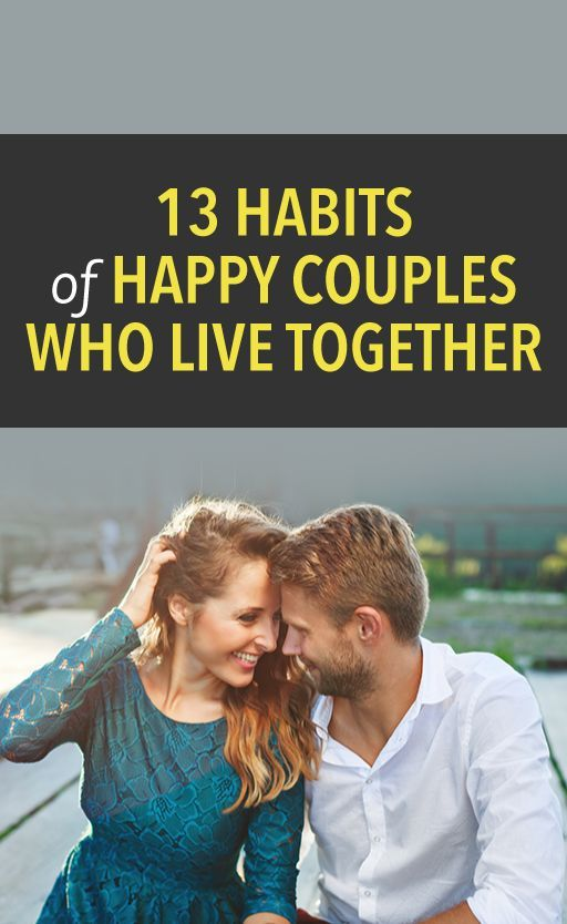 13 habits of happy couples who live together