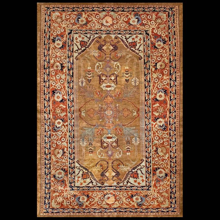 Stock Id: #4938  General Rug Type:      Persian Formal  Specific Rug Type:      Heriz - Silk  Circa: 1870  Color: Brown  Origin: Persia  Width: 3' 9'' ( 114.3 cm )  Length: 5' 9'' ( 175.3 cm )