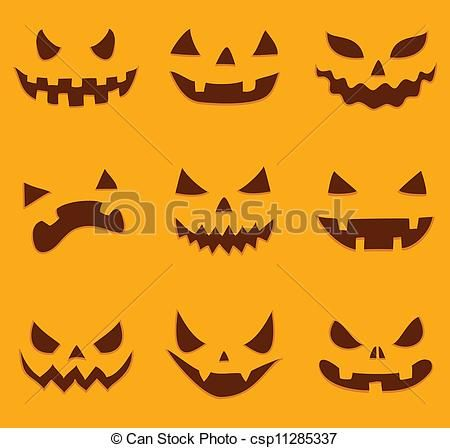scary pumpkin faces to draw - Google Search