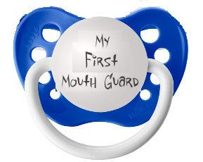 My First Mouth Guard Pacifier, Dark Blue, Sports Theme Pacifier, Baby Shower Gift, Dark Blue Pacifier