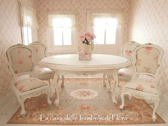 RESERVED French Dining Room Table And Chairs