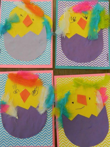 Simple Paper and Feather Chickadee and Bunny crafts for Easter!