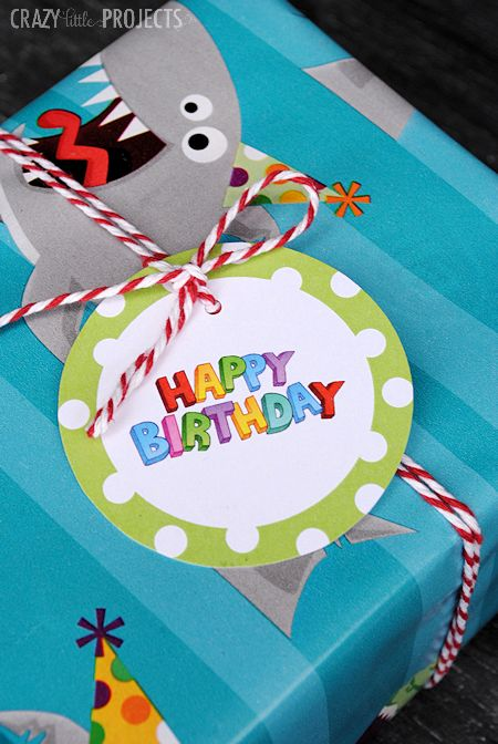 Cute Free Printable Gift Tags for Birthdays-18 designs!