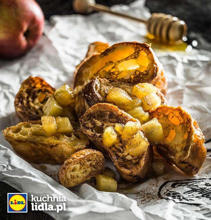 Francuskie tosty z karmelizowanymi jabłkami. Kuchnia Lidla - Lidl Polska. #lidl #chrupiacezpieca