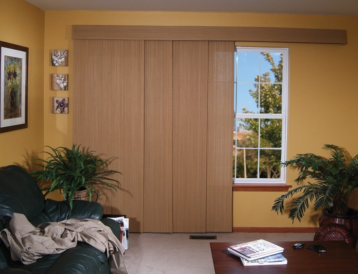 sliding woven wood shades for patio doors