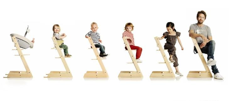 Sedia Tripp Trapp® di Stokke | Design: Peter Opsvik | Collezione: Children | Materiali: Faggio tinto #design