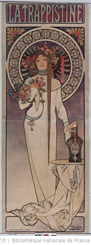 La Trappistine, 1897 - Alphonse Mucha