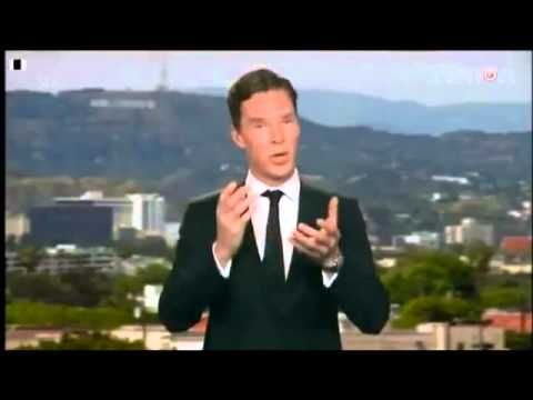 National Television Award winner for Best TV Detective is Benedict Cumberbatch! This video is too precious!