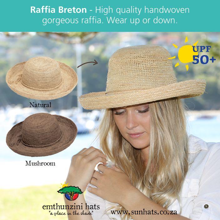 RAFFIA BRETON: Made from 100% raffia, spot washable and of course UPF50+.