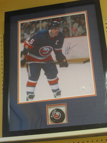 The current ReUstore auction includes a cool framed puck and signed picture of Dennis Potvin.  Visit The ReUstore Saturday, March 10th at 12pm when bidding goes live and the auction closes for this particular item.  For more information visit www.ccs4u.org or call 905-857-7824
