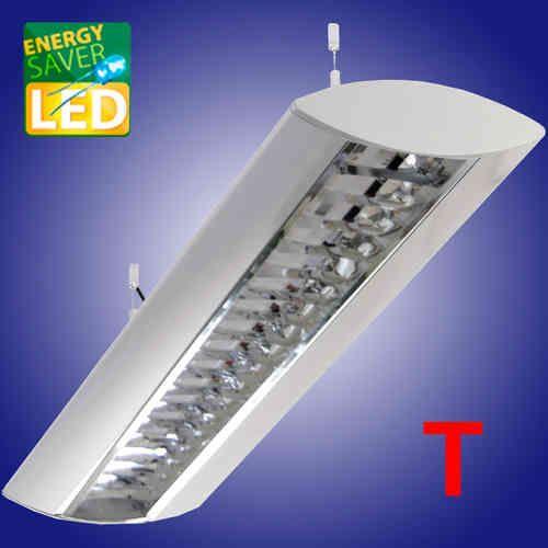 Büroleuchte DORO LED, LED Pendelleuchte mit Aluminium Reflektor, blendungsbegrenzt. LED Röhren wechselbar