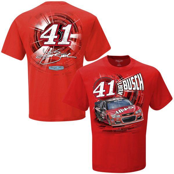 Kurt Busch Stewart-Haas Racing Team Collection Speedbolt T-Shirt - Red - $18.99