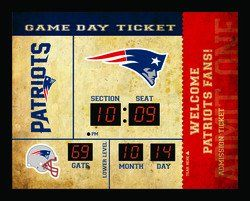 New England Patriots Clock - 14x19 Scoreboard - Bluetooth
