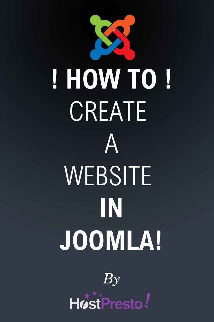 Learn all you need in order to create a website with Joomla!