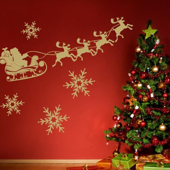 Wall Design Interior Christmas Decorating Ideas Perfect For #walldecals