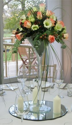 "Centrepiece Ideas    ""martini"" glass"
