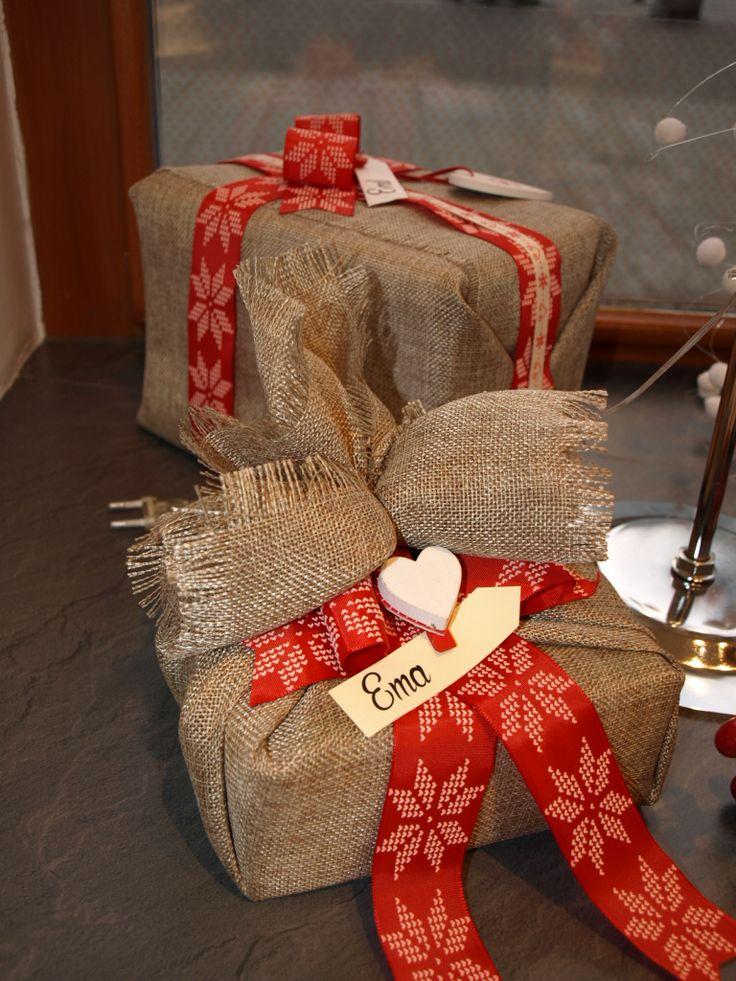 Balení dárků - pytlovina