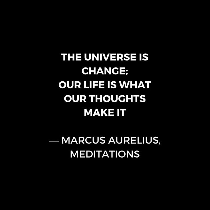 Stoic Wisdom Quotes – Marcus Aurelius Meditations – The universe is change | Art Print