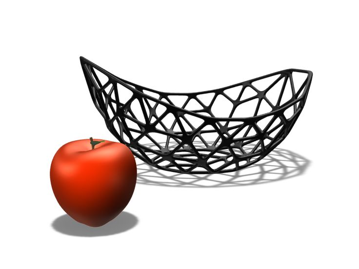 a 3D model of parametric bowl  created with VECTARY - the free online 3D modeling tool #3Dprinting #interior #diy #parametric design  Click to download or customize it for free.