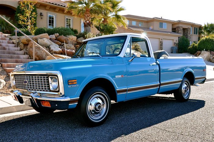 Old Pickup Lights : Best images about light blue chevy c custom on