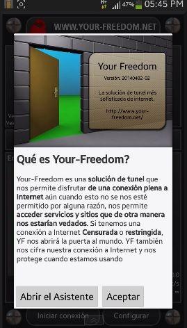 para tener internet gratis con your freedom es necesario 100% estar sin saldo o sin ningún centavo de credito.