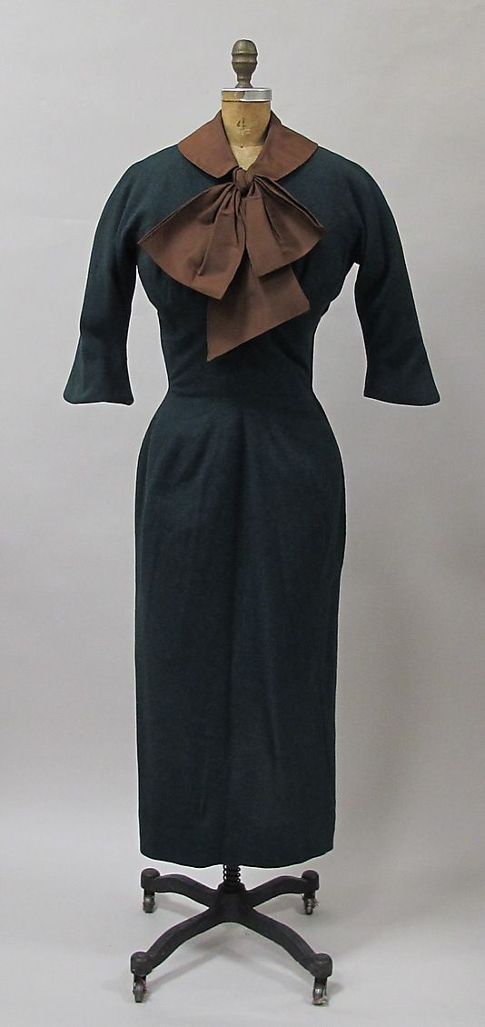 Dress Charles James (American, born Great Britain, 1906–1978) Manufacturer: (sample made for) Samuel Winston Date: 1952–54 Culture: American Medium: wool
