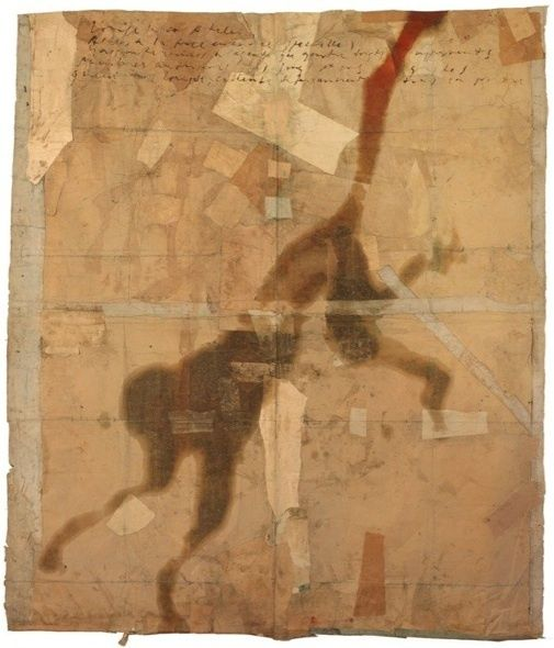luca caccioni - Lotophagie 2   assemblage and collage