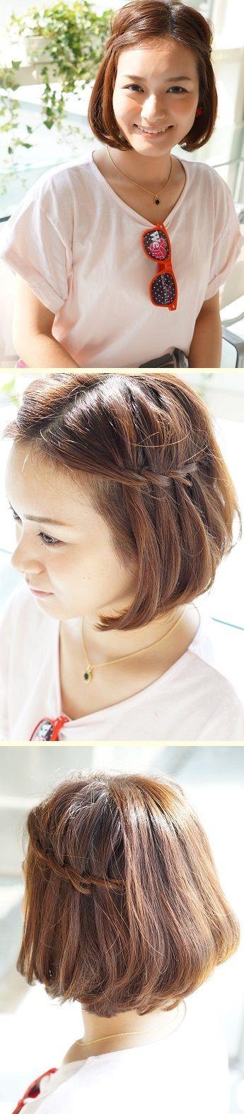 """通称""""ウォーターフォール(髪の滝)""""スタイル。 かわいすぎる「スポーツ観戦ヘア」アレンジ実例7つ フェスやライブなどアクティブな日におすすめ☆ #髪型 #ヘアスタイル #ヘアアレンジ #hairstyle"""