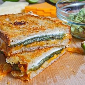 Jalapeno Popper Grilled Cheese Sandwich.